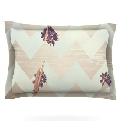 Oasis by Catherine McDonald Featherweight Pillow Sham Size: Queen, Fabric: Cotton