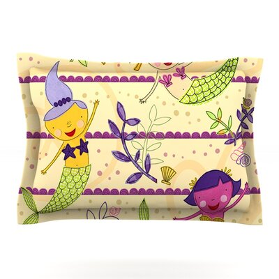 Under the Sea by Jane Smith Featherweight Pillow Sham Size: Queen, Fabric: Cotton