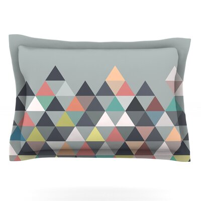 Mareike Boehmer Nordic Combination Gray Abstract Featherweight Sham Size: Standard, Fabric: Cotton