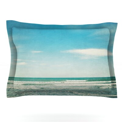 The Teal Ocean by Susannah Tucker Featherweight Pillow Sham Size: Queen, Fabric: Cotton