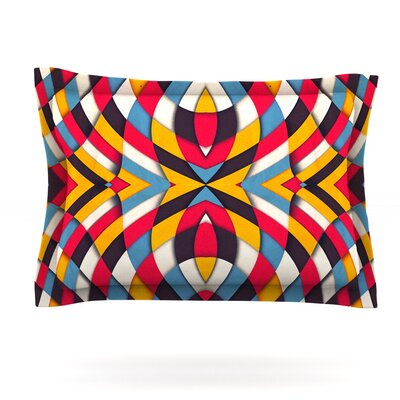 Stained Glass by Danny Ivan Featherweight Pillow Sham Size: King, Fabric: Cotton
