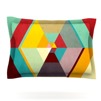 Color Mess by Danny Ivan Featherweight Pillow Sham Size: Queen, Fabric: Cotton
