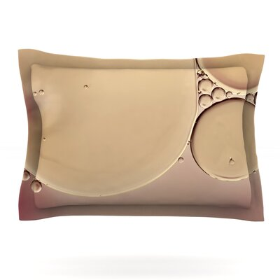 A Touch of Pink by Ingrid Beddoes Featherweight Pillow Sham Size: Queen, Fabric: Cotton
