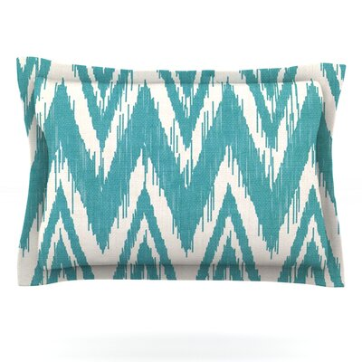 Tribal Chevron by Heidi Jennings Featherweight Pillow Sham Size: Queen, Color: Black, Fabric: Woven Polyester