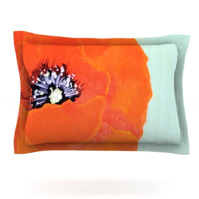 Vintage Poppy by Christen Treat Featherweight Pillow Sham Size: King, Fabric: Cotton