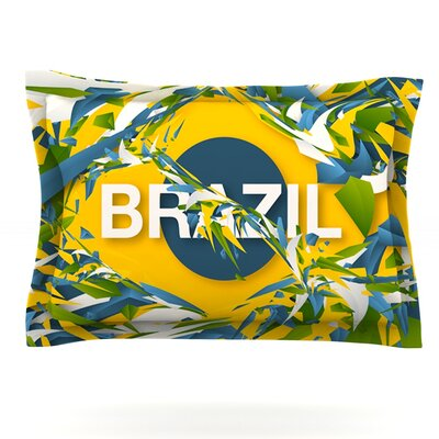 Brazil by Danny Ivan Featherweight Pillow Sham Size: King, Fabric: Cotton