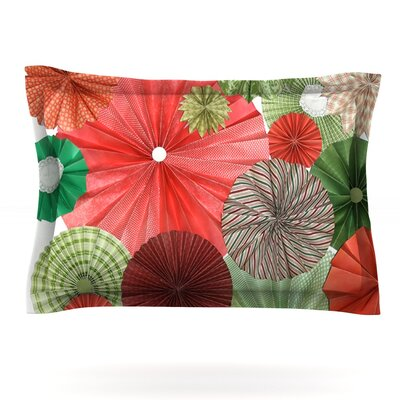Christmas Remix by Heidi Jennings Featherweight Pillow Sham Size: King, Fabric: Cotton