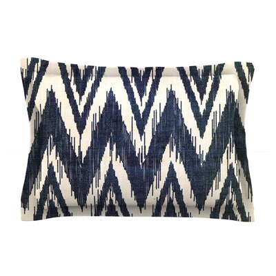 Tribal Chevron by Heidi Jennings Featherweight Pillow Sham Color: Black, Size: King, Fabric: Cotton