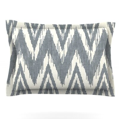 Tribal Chevron by Heidi Jennings Featherweight Pillow Sham Size: Queen, Color: Gray, Fabric: Cotton