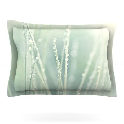 Blue Ice by Ingrid Beddoes Featherweight Pillow Sham Size: King, Fabric: Cotton