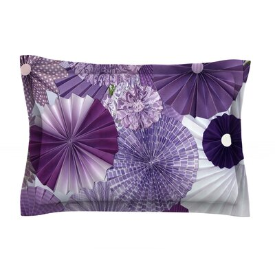 Lavender Wishes by Heidi Jennings Featherweight Pillow Sham Size: Queen, Fabric: Cotton