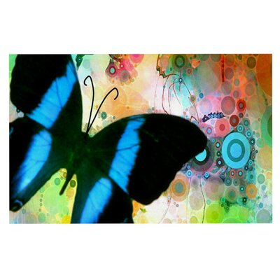AlyZen Moonshadow Colorful Butterfly Doormat