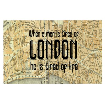 Alison Coxon London Type Map Doormat