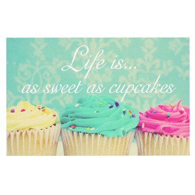 Beth Engel Life is as Sweet as Cupcakes Doormat