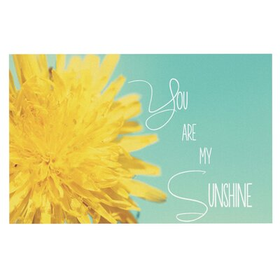 Beth Engel You are My Sunshine Flower Doormat