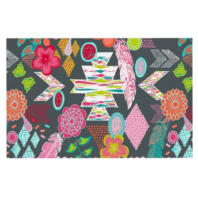 Anneline Sophia Aztec Boho Doormat Color: Gray