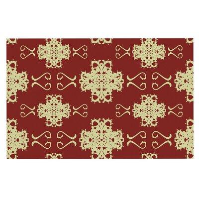 Mydeas Asian Motif Damask Doormat