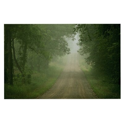 Angie Turner Foggy Road Forest Doormat