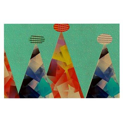 Bri Buckley Peaks Triangles Decorative Doormat