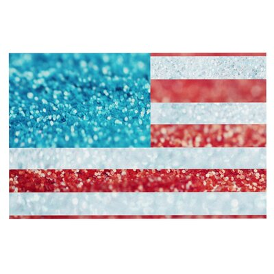 Beth Engel Glitter Flag Doormat
