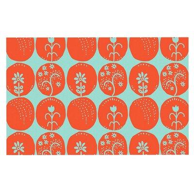 Anneline Sophia Dotty Papercut Circles Doormat Color: Orange/Teal