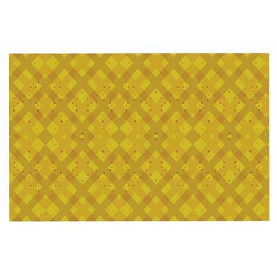Mydeas Dotted Plaid Geometric Doormat