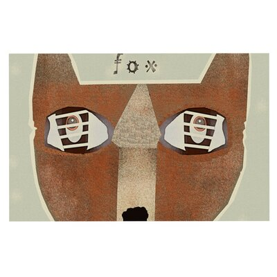 Bri Buckley Fox Face Decorative Doormat