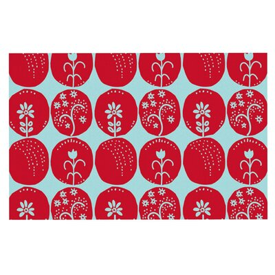 Anneline Sophia Dotty Papercut Circles Doormat Color: Red/Blue