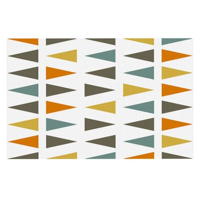 Pellerina Design Stacked Geo Triangles Doormat