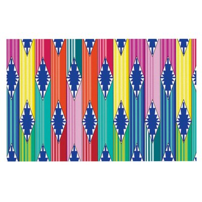 Anneline Sophia Blanket Rainbow Tribal Doormat