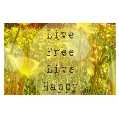 Alison Coxon Live Free Doormat