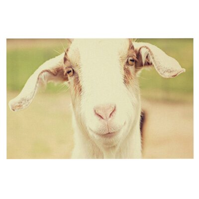 Angie Turner Happy Goat Smiling Animal Doormat