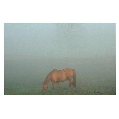 Angie Turner Horse in Fog Mist Doormat