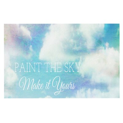 Alison Coxon Paint the Sky! Doormat