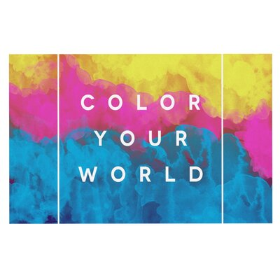 Galaxy Eyes Color Your World Paint Doormat