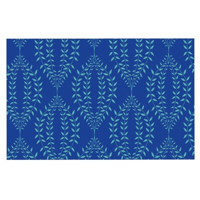 Anneline Sophia Laurel Leaf Floral Doormat Color: Blue/Navy