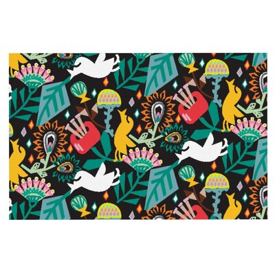 Agnes Schugardt Folk Fusion Abstract Doormat