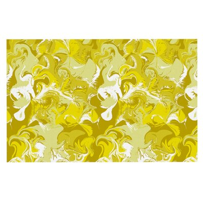 Anneline Sophia Marbleized Doormat Color: Gold/Yellow