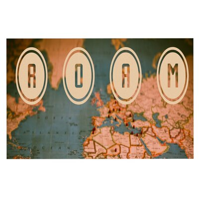 Ann Barnes Roam II World Map Doormat