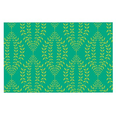 Anneline Sophia Laurel Leaf Floral Doormat Color: Green/Teal