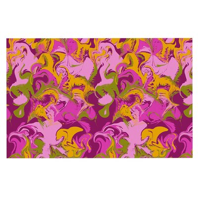 Anneline Sophia Marbleized Doormat Color: Pink/Purple