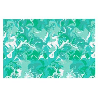 Anneline Sophia Marbleized Doormat Color: Seafoam/Teal Aqua