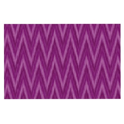 Amanda Lane Plum Chevron Doormat