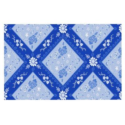 Anneline Sophia Diamonds Doormat Color: Aqua/White