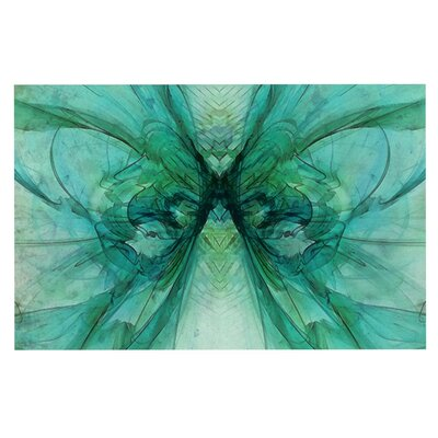 Alison Coxon Butterfly Doormat Color: Green/Black