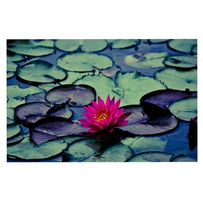 Ann Barnes Twilight Water Lily Doormat