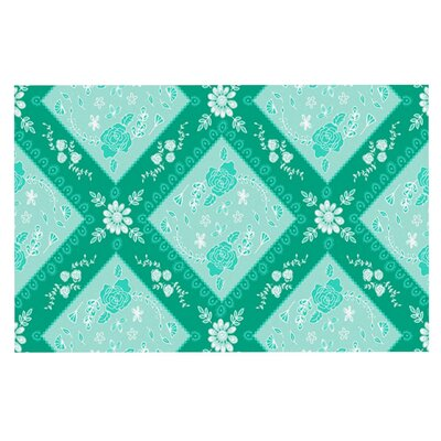 Anneline Sophia Diamonds Doormat Color: Green Seafoam