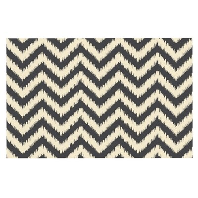 Amanda Lane Moonrise Chevron ikat Doormat