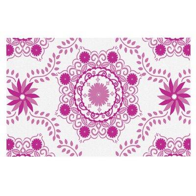 Anneline Sophia Lets Dance Floral Doormat Color: Fuchsia/Pink
