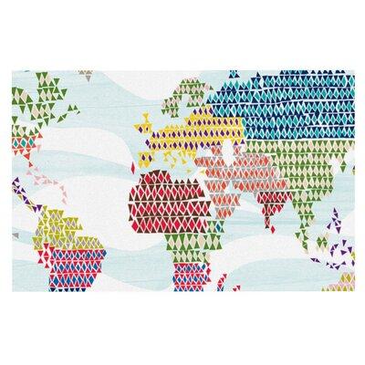 Agnes Schugardt Geo Map Abstract Doormat